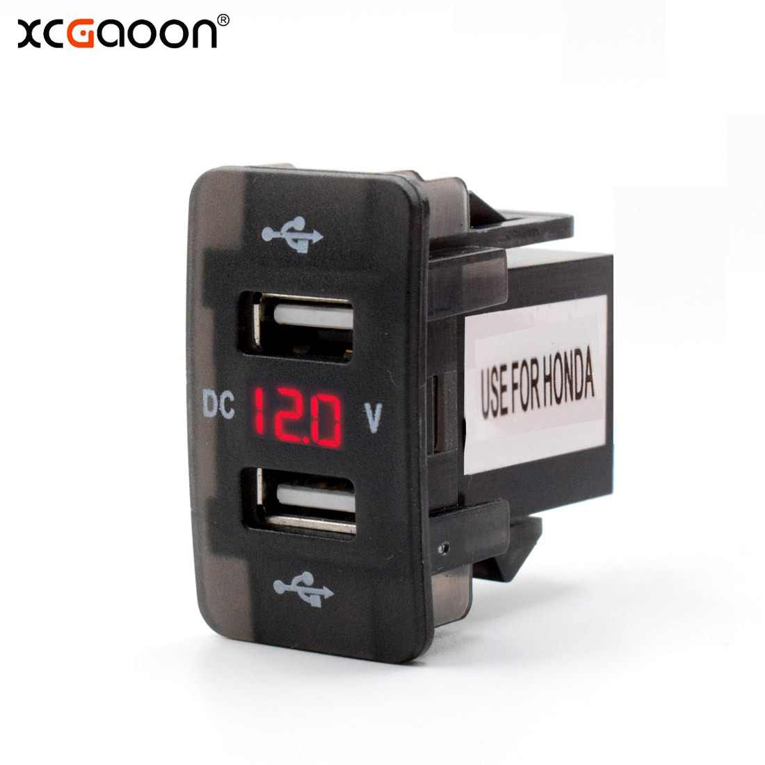 XCGaoon Special 5V 4.2A Dual USB Interface Socket USB Car Charger Adapter with LED Voltmeter for TOYOTA / HONDA, DC-DC Converter