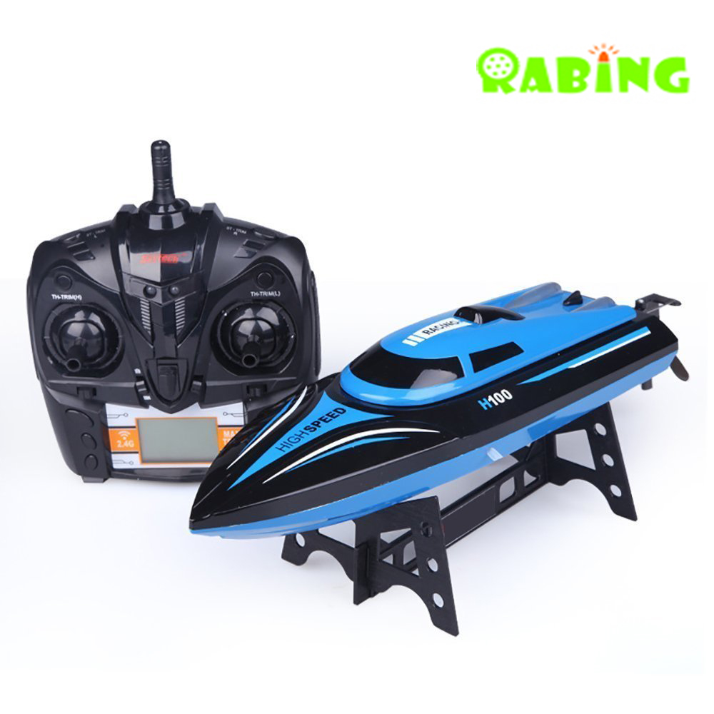 RC Boat H100 Electric 2.4GHz 4 canales 30KM / H alta velocidad RC - Juguetes con control remoto