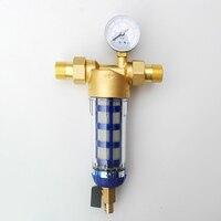 "1/2 ""zoll 3/4"" Zoll 1 ""zoll Kupfer rückstau wasser vorfilter Haushalt Haus Wasser Filter Rohre Zentrale wasserfilter Entkalkung-in Wasserfilter aus Haushaltsgeräte bei"