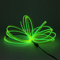 DC 12V 2 3 Skirt 10Meters Sound Activated EL Wire Flexible Light Glow Rope Tape Neon
