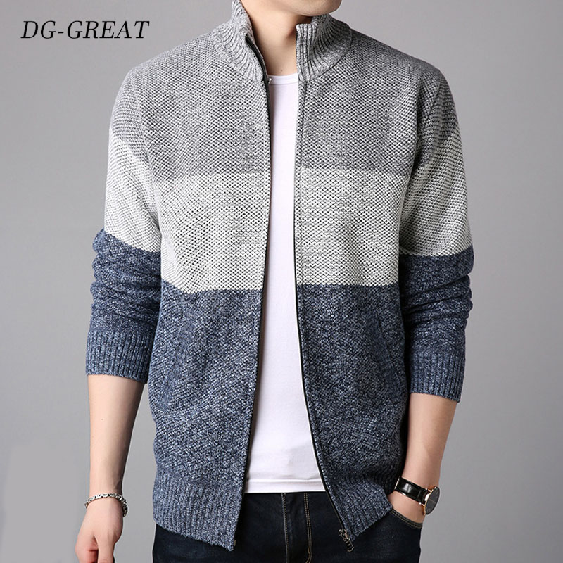 2019 Men's  Sweater Cardigan Velvet Thickening Loose-fitting Large-size Matching Color Autumn Winter Trend Fashion Warm Men Coat