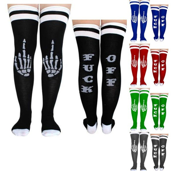 Creatief Engels Brief Voetbal Baseball Voetbal Sokken Dikker Over Knie Enkel Sport Lange Sokken Voor Meisje Vrouwen Hoge Veiligheid