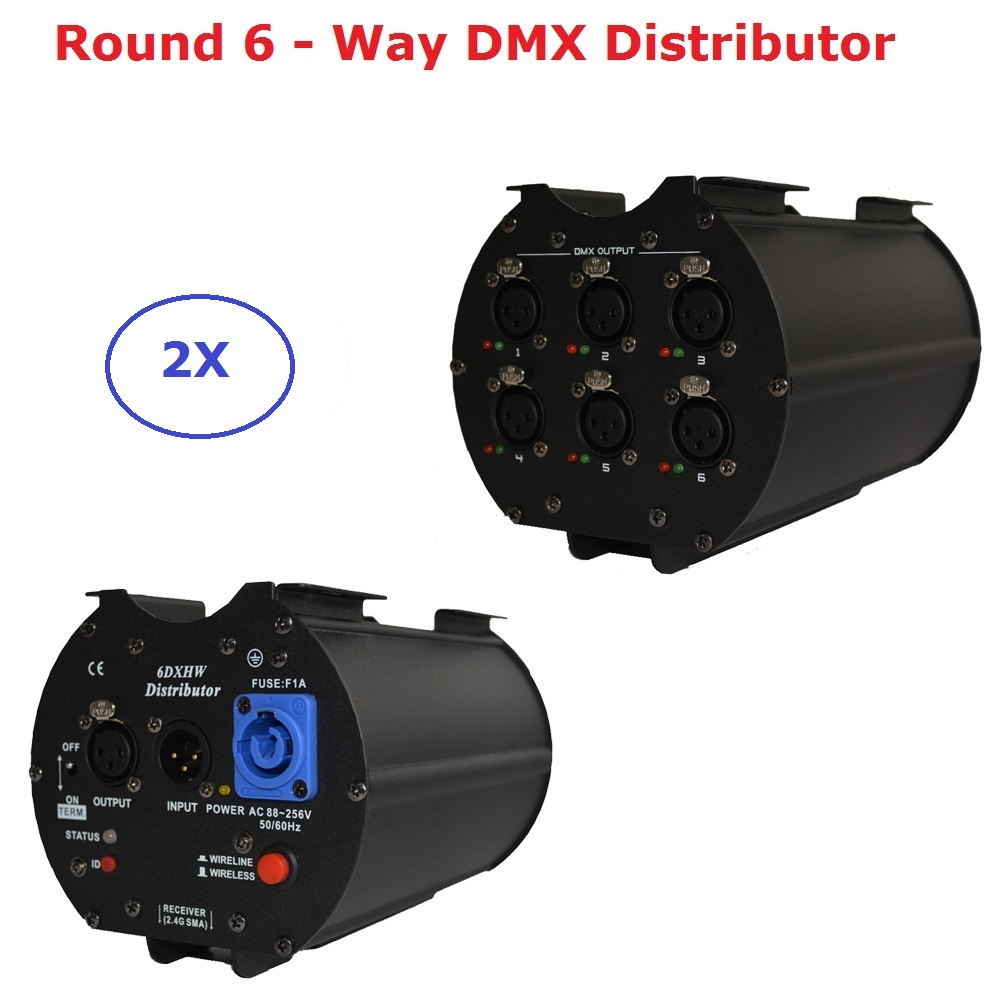 2XLot DMX512 6 Way DMX Distributor 6 Channel Signal Amplifier Isolation Module DMX Splitter 6 Channels Separately Power Supply 2pcs lot 8 channel output dmx dmx512 led controller signal amplifier splitter distributor with photoelectric isolation