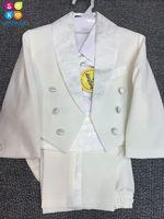 Flower Boys Formal Blazer Suit Birthday Party Wedding Kids Jackets Pants Clothing Set Children Prom Costume Groom Dress F67