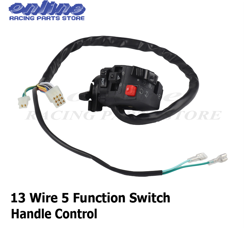 US $14.58 15% OFF|13 Wires 5 Function Switch With Choke Lever For ATV on chinese atv wiring, kazuma 250 wiring diagram, suzuki 250 atv wiring, kazuma atv wiring diagram,