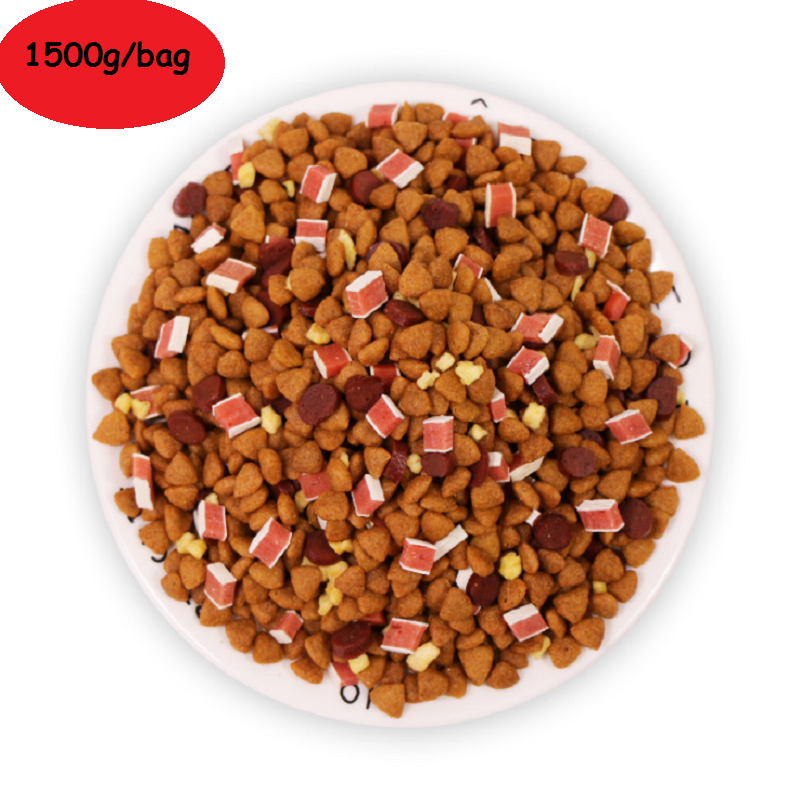 1500g Nutritious Dog Food mixed Dog Staple with Fresh grains beef salmon for Puppy Adult dog