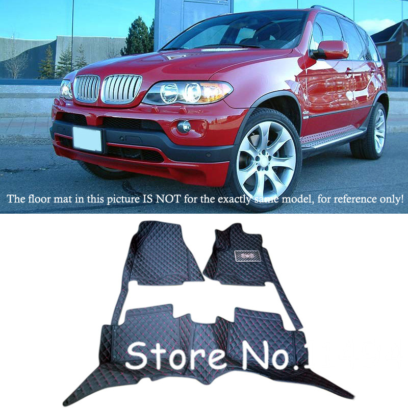 For BMW  X5 E53 2004 2005 2006  Interior Leather Waterproof Durable Special Floor Mats & Carpets pads