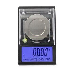 Image 3 - Balanza electrónica Digital de 50g y 0.001g, balanza Digital de diamante con pantalla LCD táctil de precisión de 0.001g, para peso y contar en laboratorio