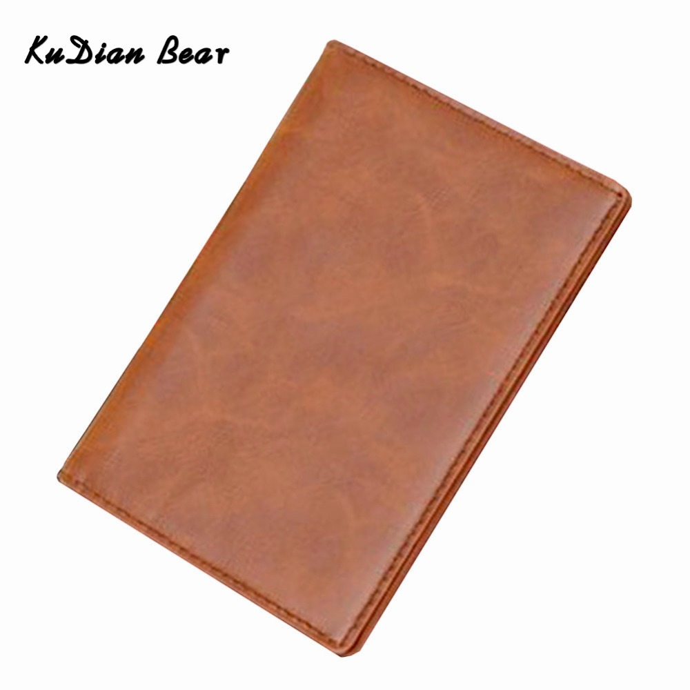 KUDIAN Minimalist Passport Cover Waterproof Men Card Holder Travel Passport Holder Casual Leather Card Wallet -- BID021 PM49