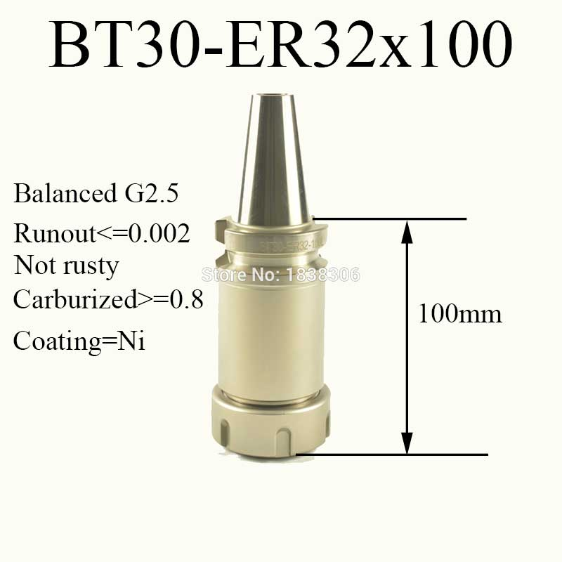 1pcs BT30 ER32 CNC tool holder ER collets chuck for milling machine drill tool mill cutter bt40 er20 70l milling chuck tool holder for cnc milling machine center