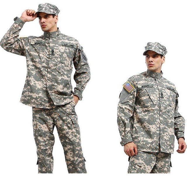 Military Army Shirt + Pants Multicam ACU Tactical Uniforms