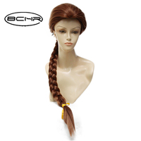 New Tangled Princess Rapunzel Braid Long Straight Heat Resistant Cosplay Wig Free Shipping