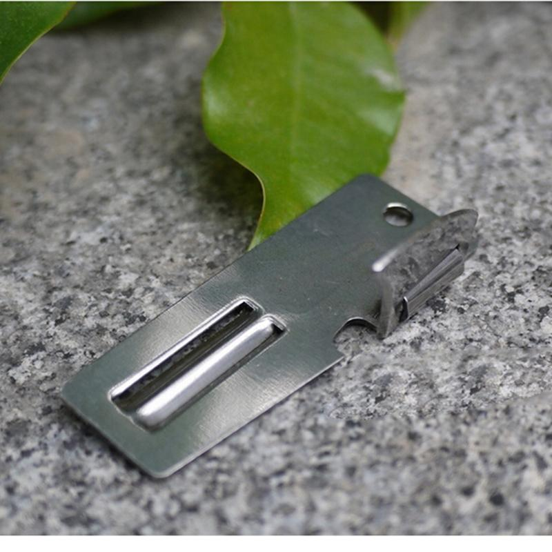 1PCS New Practical Useful Brand Stainless Steel Double Peeler Multi Tool 2 in 1 EDC Pocket Can Opener(China)