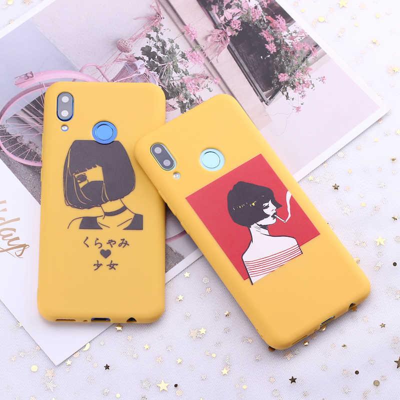 For Samsung S8 S9 S10 S10e Plus Note 8 Note 9 Comics Book Girl Cartoon Candy Silicone Phone Case Cover Capa Fundas Coque