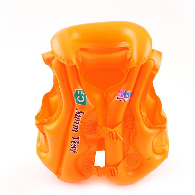 New Arrival Baby Kid Safety Float Inflatable Swim Vest Life Jacket Swimming Aid For Age 3-6 S M L image