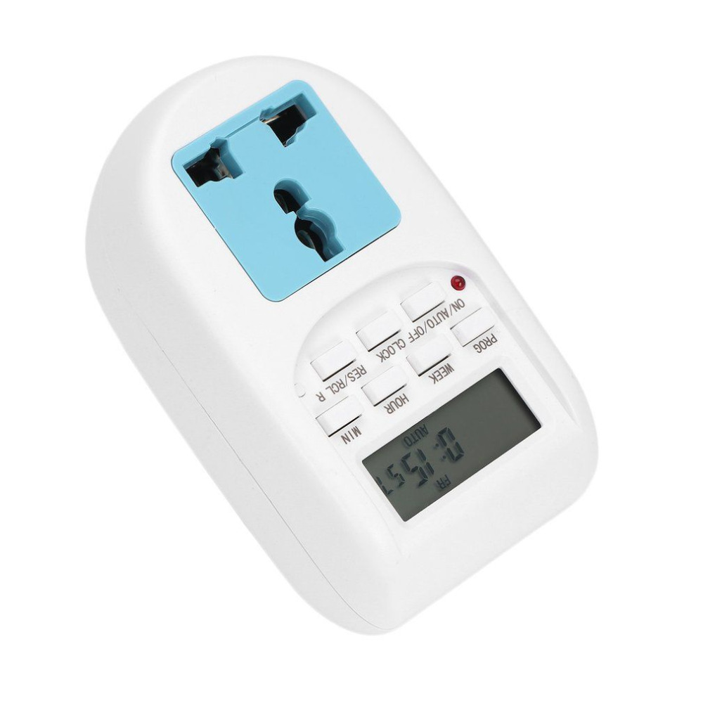 1pcs EU Plug New Energy Saving Timer Programmable Electronic Timer Socket Digital Timer Household Appliances For Home Devices in Timers from Tools