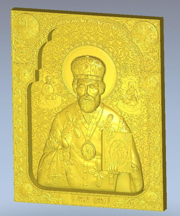 3d  Icona_Sv_Nikolay_7 model Icona_Sv_Nikolay_7 relief  for cnc in STL file format martyrs faith hope and love and their mother sophia 3d model relief figure stl format religion for cnc in stl file format