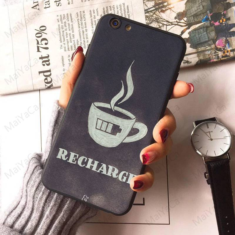 Black Soft Shell Phone Case Ok But First Coffee Coque Shell Phone Apple Iphone 8 7 6 6S Plus X 5 5S SE 4S Cover
