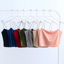 FREE SHIPPING !! Women Velvet Short Section Sexy Camisole JKP1056