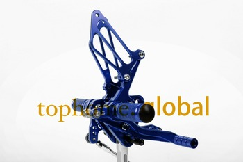 Free Shipping Motorcycle Blue CNC Rearsets Foot Pegs Rear Set For Suzuki GSXR1000 2005-2006 motorcycle foot pegs