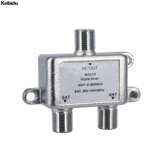 Kebidu 2 Way Cable Satellite Splitter TV Signal Satellite Sat Coaxial Diplexer Combiner Splitter Combiners Cable Switch Swi