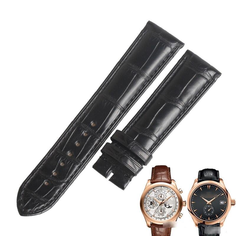 WENTULA watchbands for Carl F. Bucherer MANERO alligator skin /crocodile grain watch band man
