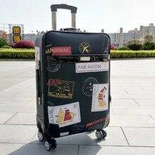 2b26442e17 LeTrend rétro timbre roulant bagages Spinner mot de passe chariot grande  capacité valise roues 20 pouces