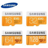 Original Samsung EVO 16/32 GB SDHC GPS Karte Carte Memoire C10 64 GB SDXC U3 Cartao SD Smartphone speicher Flash-karte Rabatt