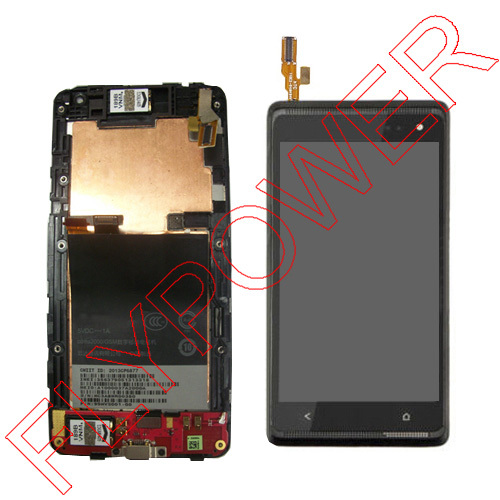 for HTC Desire 600 LCD display screen with touch screen digitizer + Frame assembly Black by free shipping for htc desire 816g lcd screen display with touch screen digitizer assembly by free shipping 100