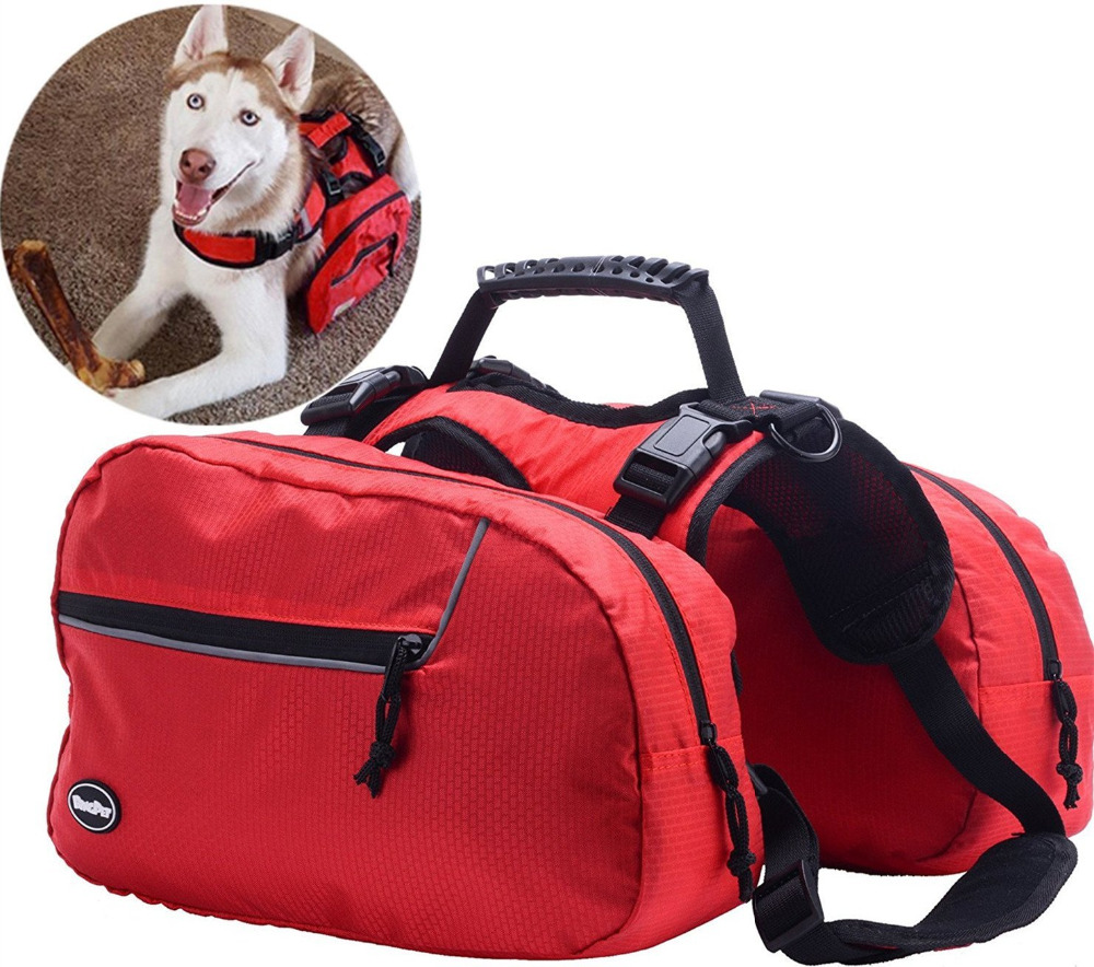 Adjustable Dog Backpack for Hiking Camping Travel Pack Outdoor Accessory Saddlebags