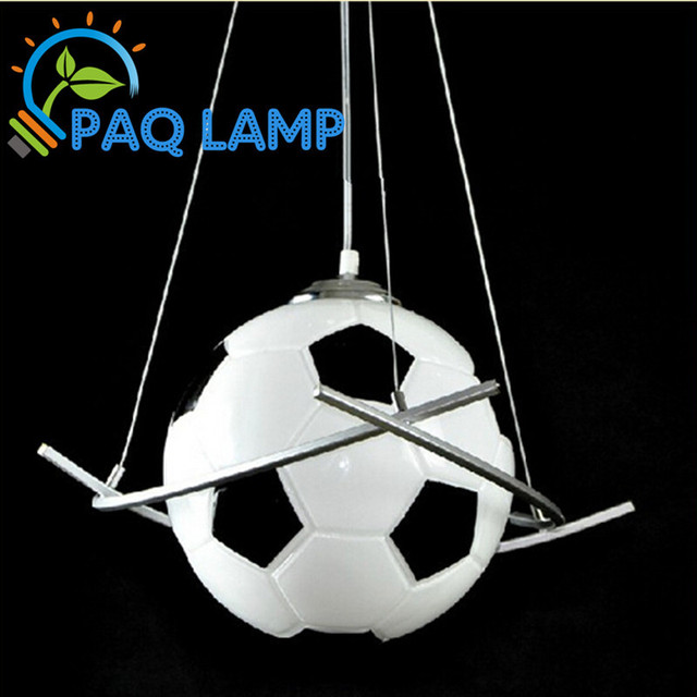 Football Lamp Chandelier Light Kid S Room Lighting Boys Diameter 20cm Soccer Ball Bedroom Hanging Led