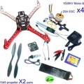 F02192-B RC Quadcopter 4 axle Drone ARF Kit No TX RX : KK V2.3 Flight Control A2212 1000KV Motor 30A ESC Lipo F450 Flamewheel Fs