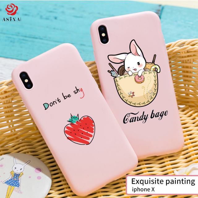 Cute Original Drawings Ultra Thin 3D Relief For iPhone X Case