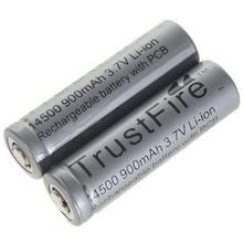 Trustfire 14500 37 В 900 мАч литий ионные аккумуляторы с защитной