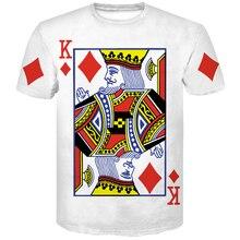 Men t shirt poker 3D print clown funny Short sleeve tshirt men/women Brand clothing China Casual O-Neck 3d printed Tees tops