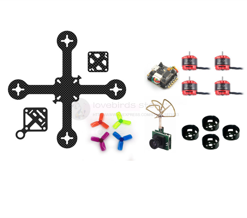 DIY Super_F4 flytower 110mm FPV brushless mini indoor drone frame PNP kit pure carbon frame 16mm x 16mm D1104 7500KV motor 2030 diy carbon steel oval frame cutting dies