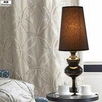 Современный простой Гостиная Ресторан отеля Спальня изголовье светло серебристый/золото настольная лампа E27 Светодиодный лампочки в помещ