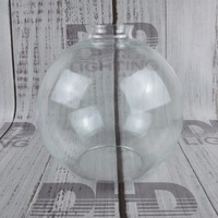 200mm round glass lamp shade clear vintage 42mm hole for E27 holder DIY hanging lighting glass shade globe lighting lampshade