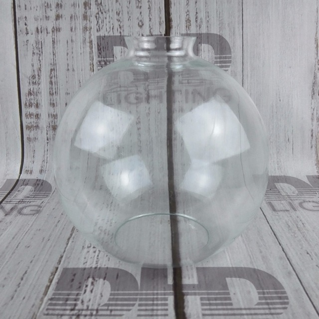 200mm round glass lamp shade clear vintage 42mm hole for e27 holder diy hanging lighting glass