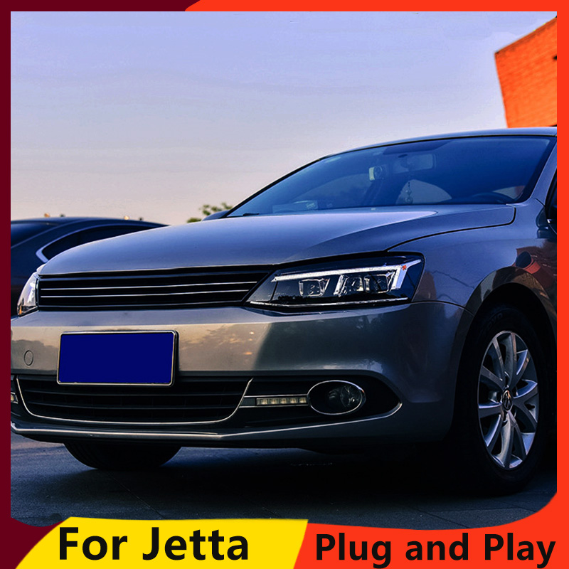 KOWELL Car Styling For For vw jetta headlights For VW jetta MK6 head lamps with LED guide car styling bi xenon lens parking