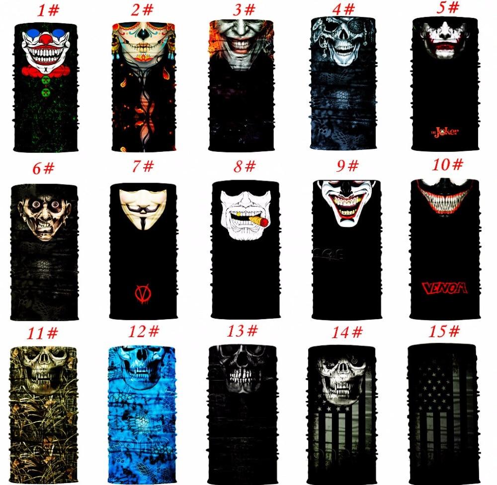 Universal Male Breathable Sun Mask Skull Face Shield Balaclava Gaiter Neckerchief Outdoor Hunting Hot Sale