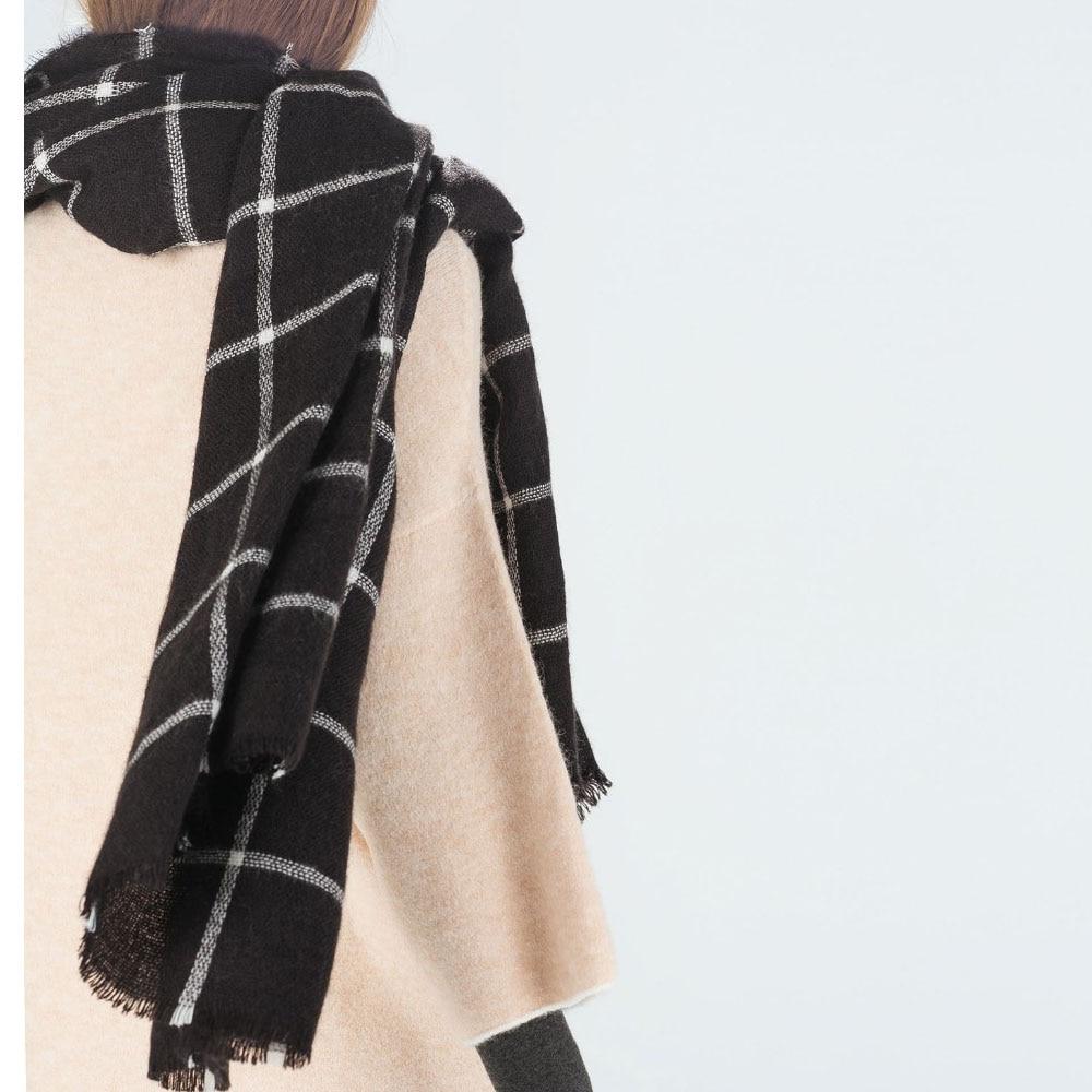1 PC Unisex Women Men Winter Warm Large font b Tartan b font Check Plaid Scarf