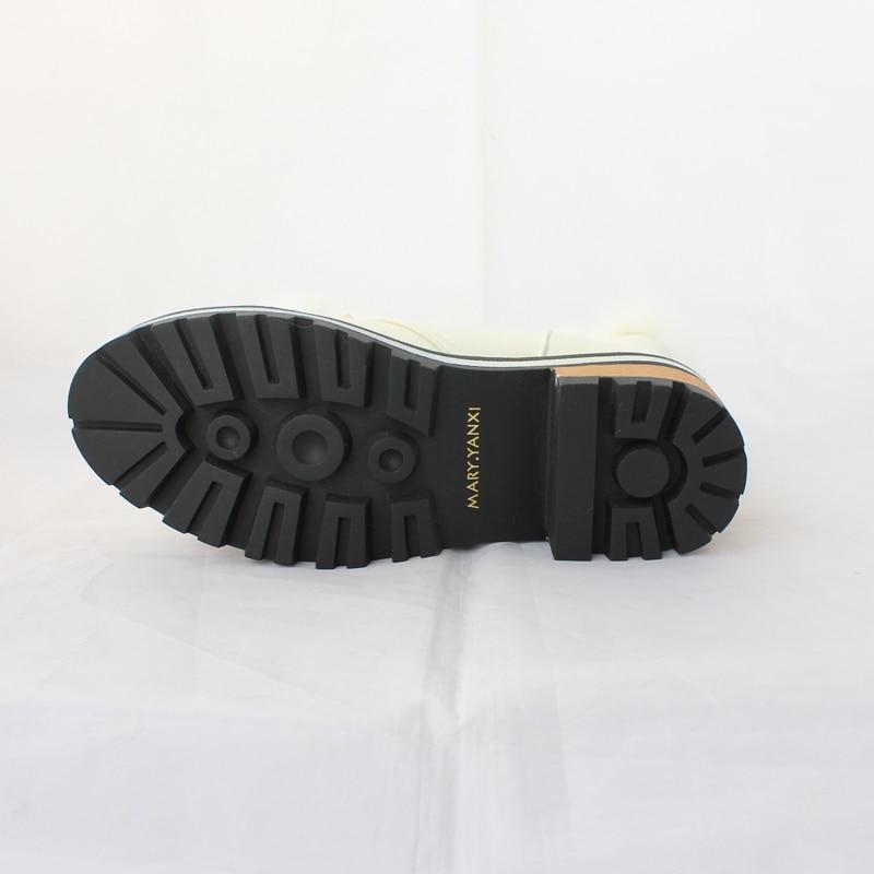 큰 크기 34-43 여성 부츠 라운드 발가락 달콤한 - 여성 신발 - 사진 6
