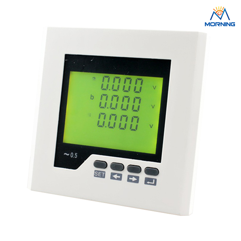 3AV3Y 96*96 mm AC/DC 85V-265V Three phase switching input solar voltage meter with LCD display 96