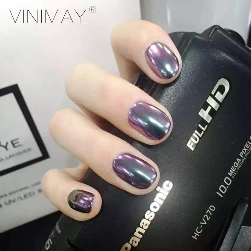 Vinimay 6 Pcs Set Mirror Nails Glitter Powder Shinning Golden Uv Gel Chrome Nail Pigment Glitters Effect 2g In From Beauty