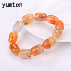 Yumten Citrine Bracelet Agate Natural-Stone Gemstone Jewelry Crystal Male Gift Fashion