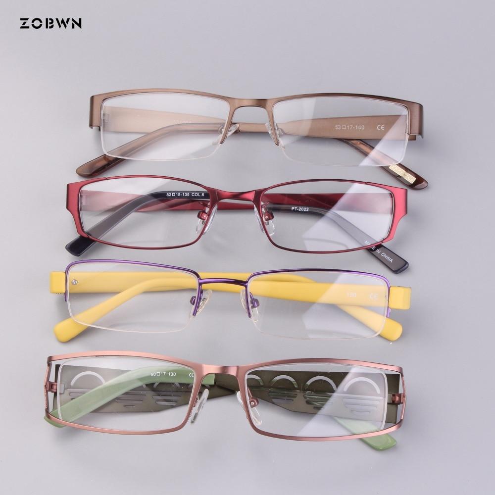 fb9244210f Mix wholesale classic Fashion Women Glasses Frame metal half rim full rim  Brand Designer top cheap Eyeglasses Frame High quality-in Eyewear Frames  from ...