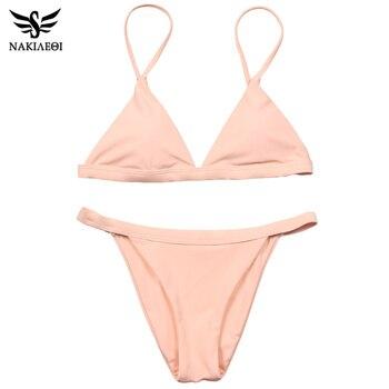 NAKIAEOI Sexy Micro Bikini Swimwear Women Swimsuit 2019 New Halter Brazilian Bikini Set Beach Bathing Suits Swim Wear Biquini 5