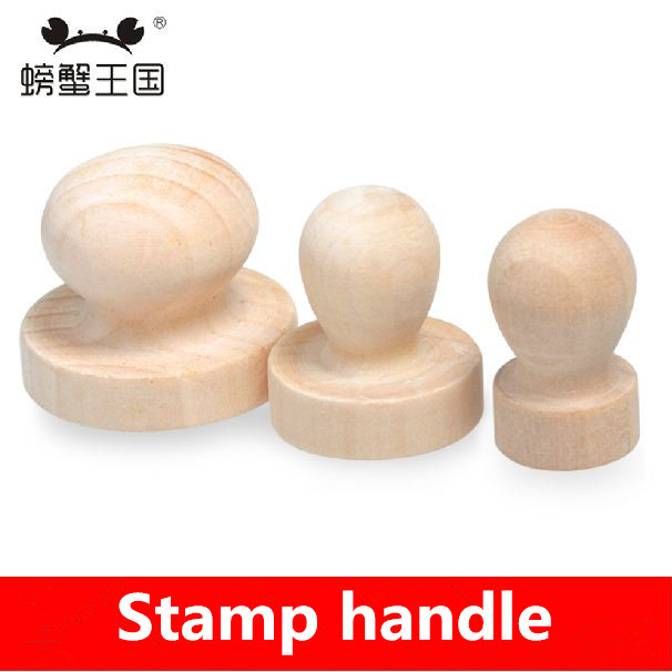 Diy Rubber Stamp Basewood Round Base Handle Personalized Motto Materialstamp Handmade