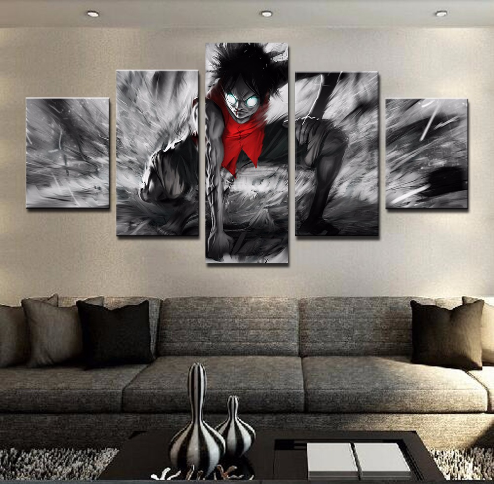 Modular Picture Home Decoration Painting Printed Wall Art Purple Erfly Photo For Living Room M Effect